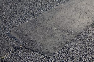 a finished pittsburgh parking lot repair job