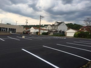 This parking lot paving in Allegheny County was a blast for Smullin Asphalt Company to complete