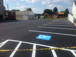 a finished project as an asphalt contractor in Pittsburgh - Smullin Asphalt Company